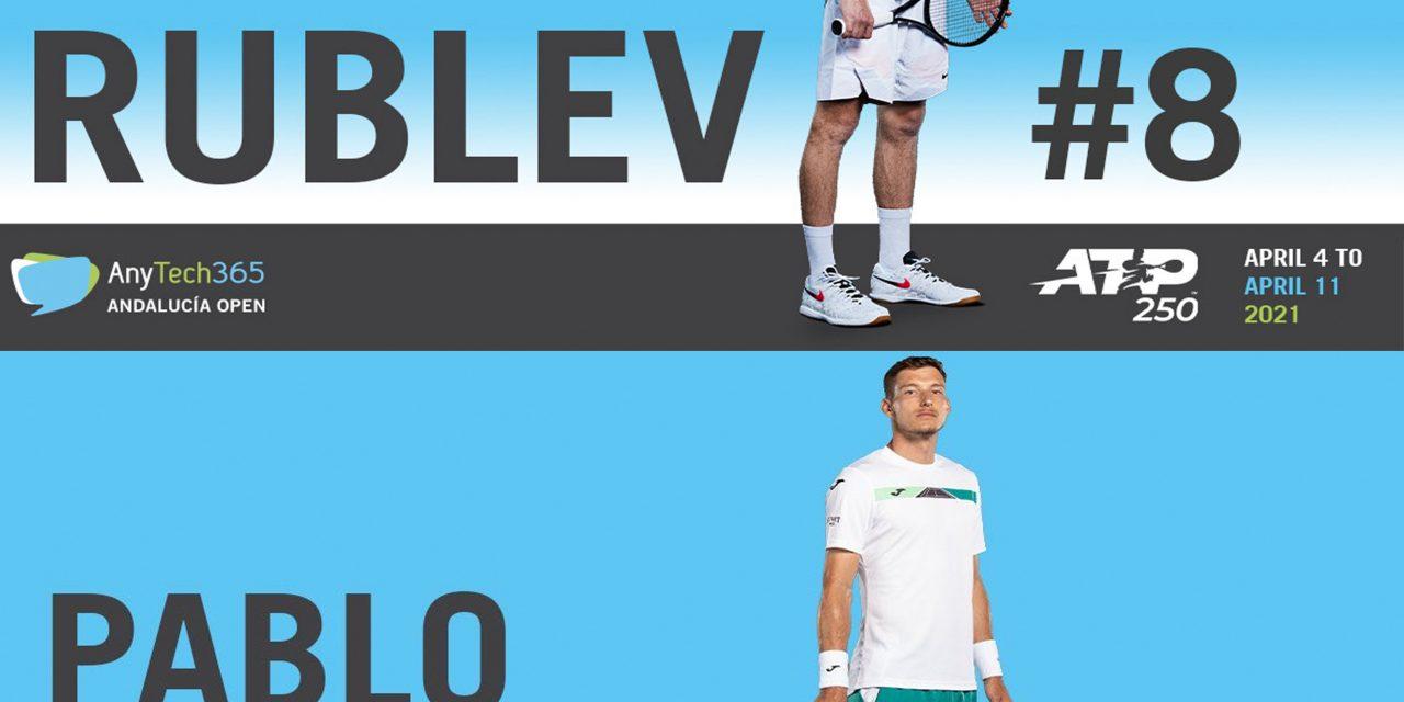 Pablo Carreño y Andrey Rublev confirmados para el ATP 250 de Marbella